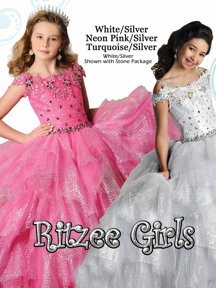 Ritzee Girls Metallic Skirt Pageant Gown 7021|PageantDesigns.com ...