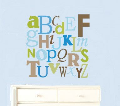kids letters of the alphabet abc can do it in any colors a z removable nursery vinyl