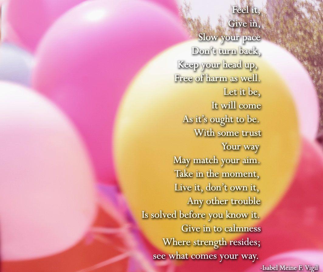 Poem on positive thinking