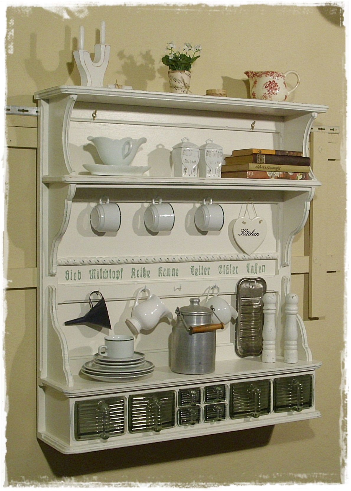 Pin By Kim On House Ideas Pinterest Shabby Plate Racks And Kitchens