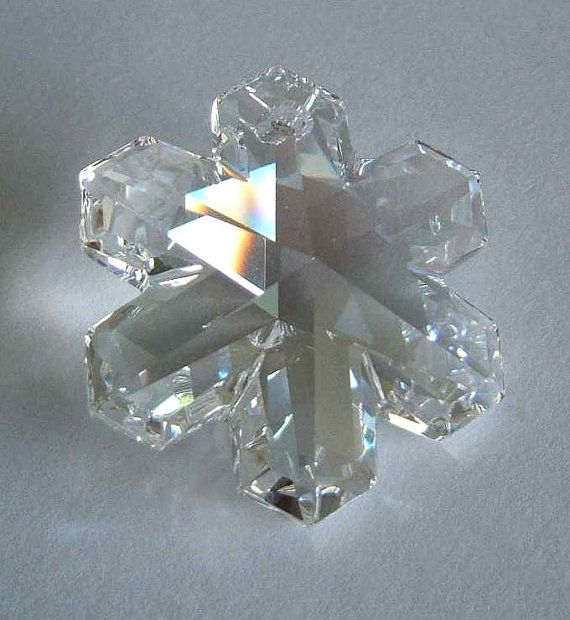 160c5122891e9 1 SWAROVSKI 6704 SnowFlake Pendant Snow 25mm by dream4joy2etsy ...