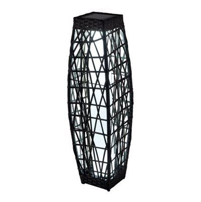 Allen 307 in h black rattan with warm light metal outdoor find this pin and more on lighting landscape lighting aloadofball Images