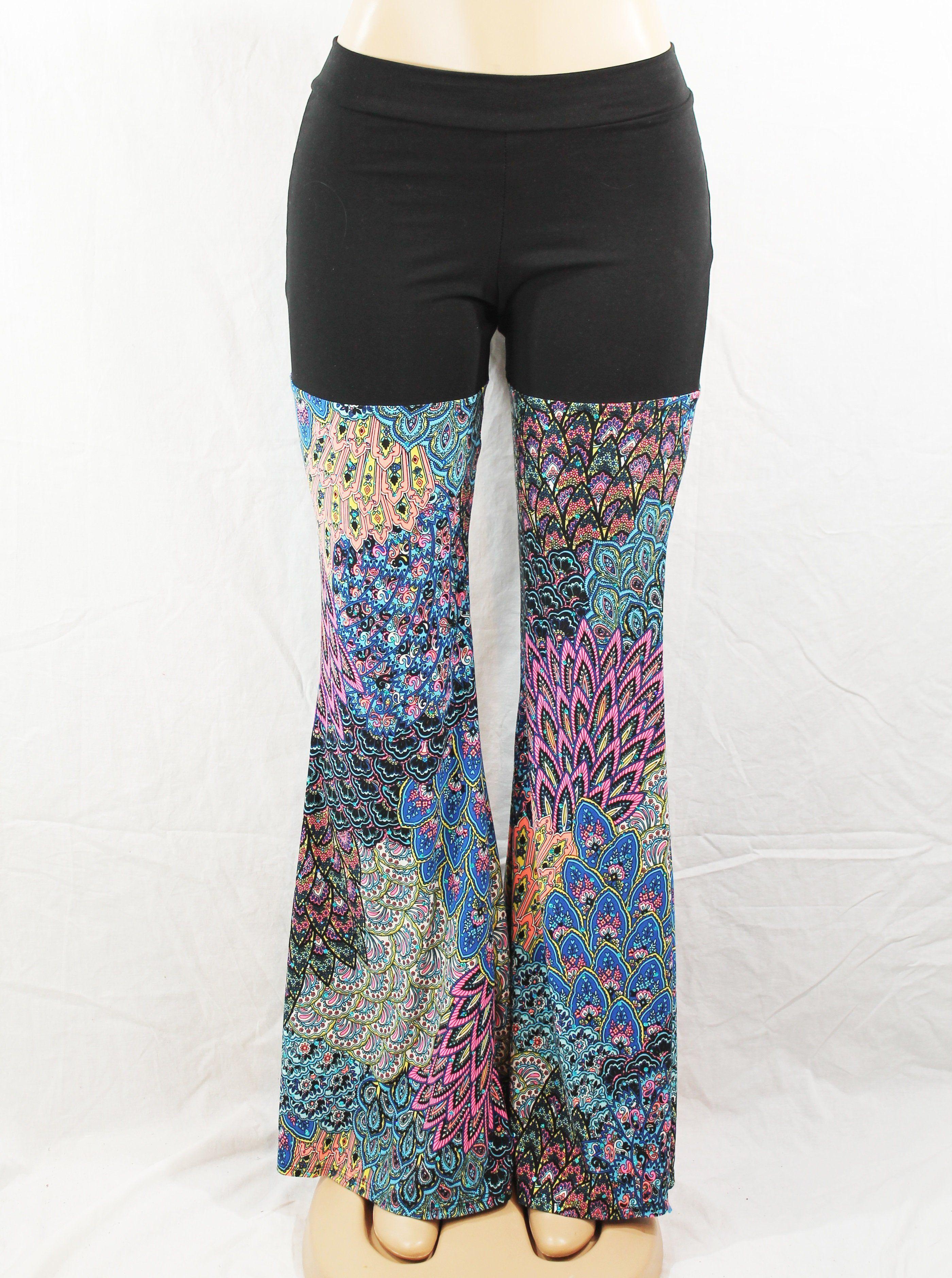 Coral Blue Yoga Pants