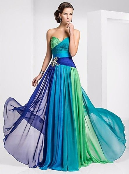 quality design 2d000 4ece1 MIRABELLE - Evening dresses A-line Chapel train Chiffon ...