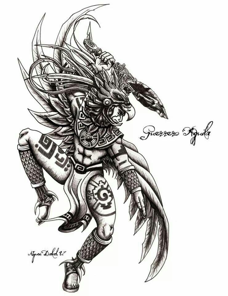 Guerrero águila Mexicanart Tattoos Aztec Warrior Y Chicano Art