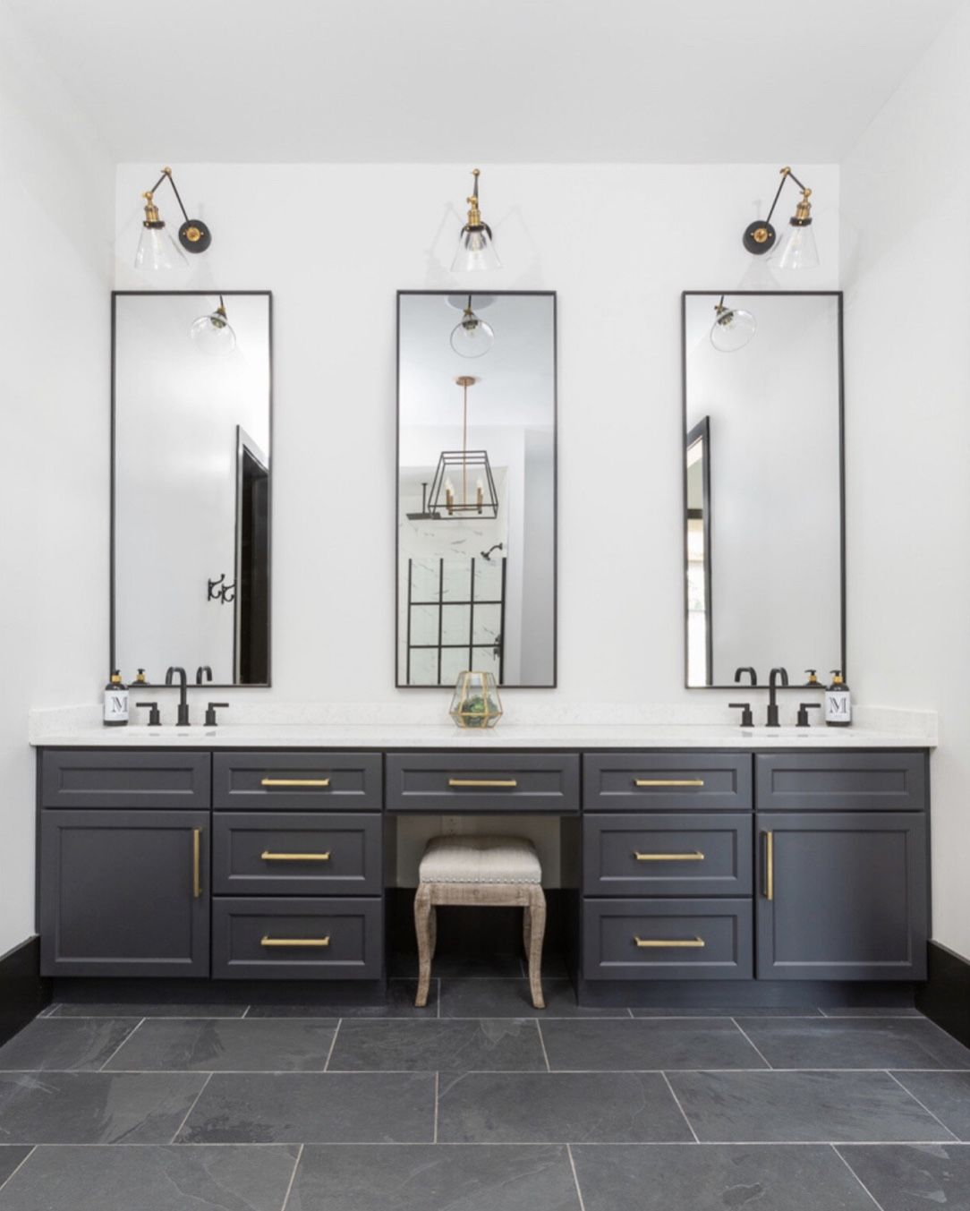 Contemporary Master Bath In 2020 Guest Bathroom Small Bathroom Remodel Master Slate Bathroom Tile