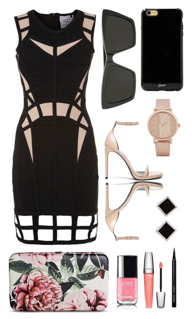 Come and Get It by sonny-m on Polyvore featuring Hervé Léger, Yves Saint Laurent, Merona, Yvel, ALDO, Sonix, Bobbi Brown Cosmetics and Lancôme