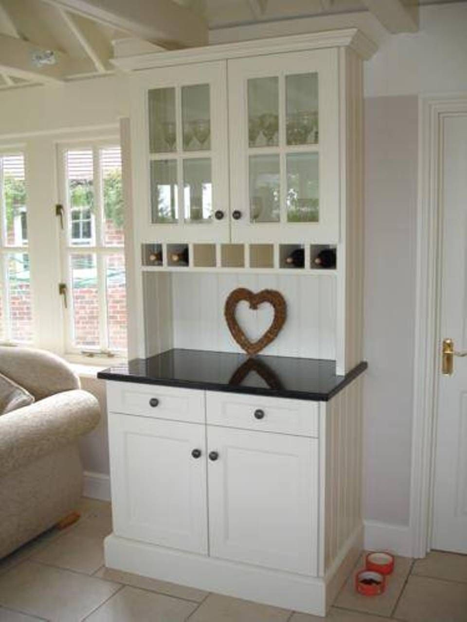 Furniture , Benefits Of Free Standing Kitchen Cabinets : Free Standing Kitchen Cabinets With Soapstone Countertop And White Cabinets