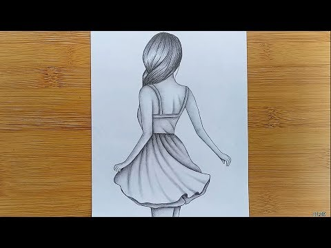 112 How To Draw Easy Girl Drawing For Beginners Step By Step