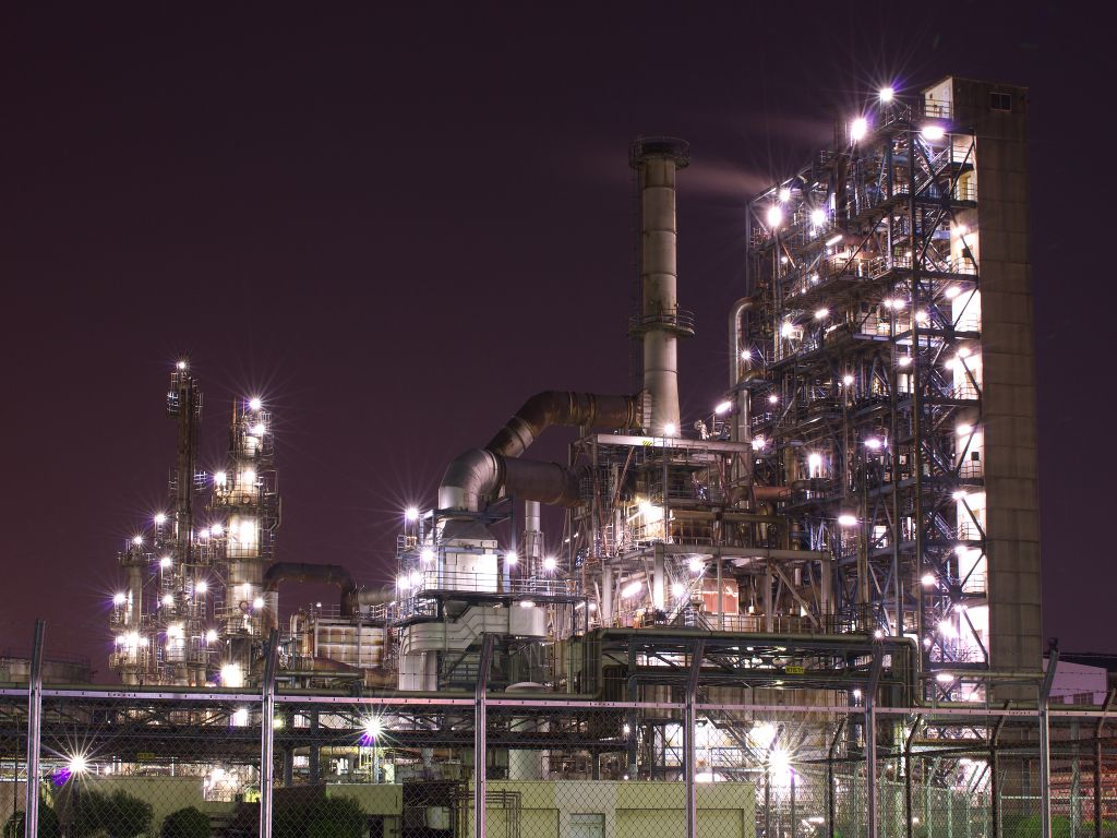 Factory Night View In Ukisimacho Kawasaki Kanagawa Japan 夜景