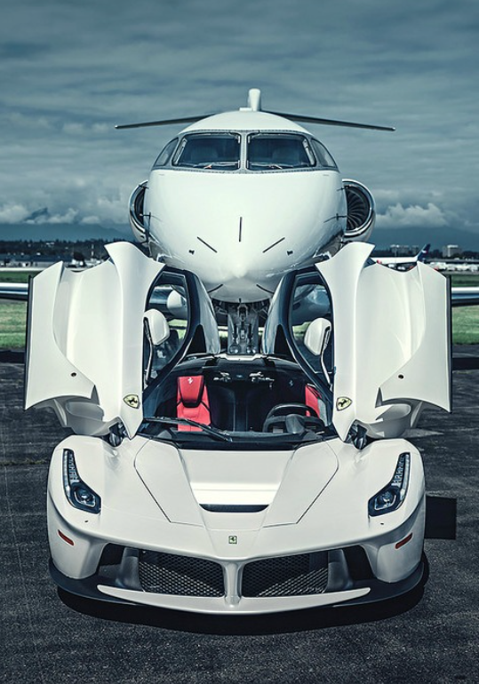Car And Plane Photo Sports Car Private Jet Www Daisylimo Com Reliable Limo And Car Service In New Jersey Latest Cars Ferrari Laferrari Luxury Cars