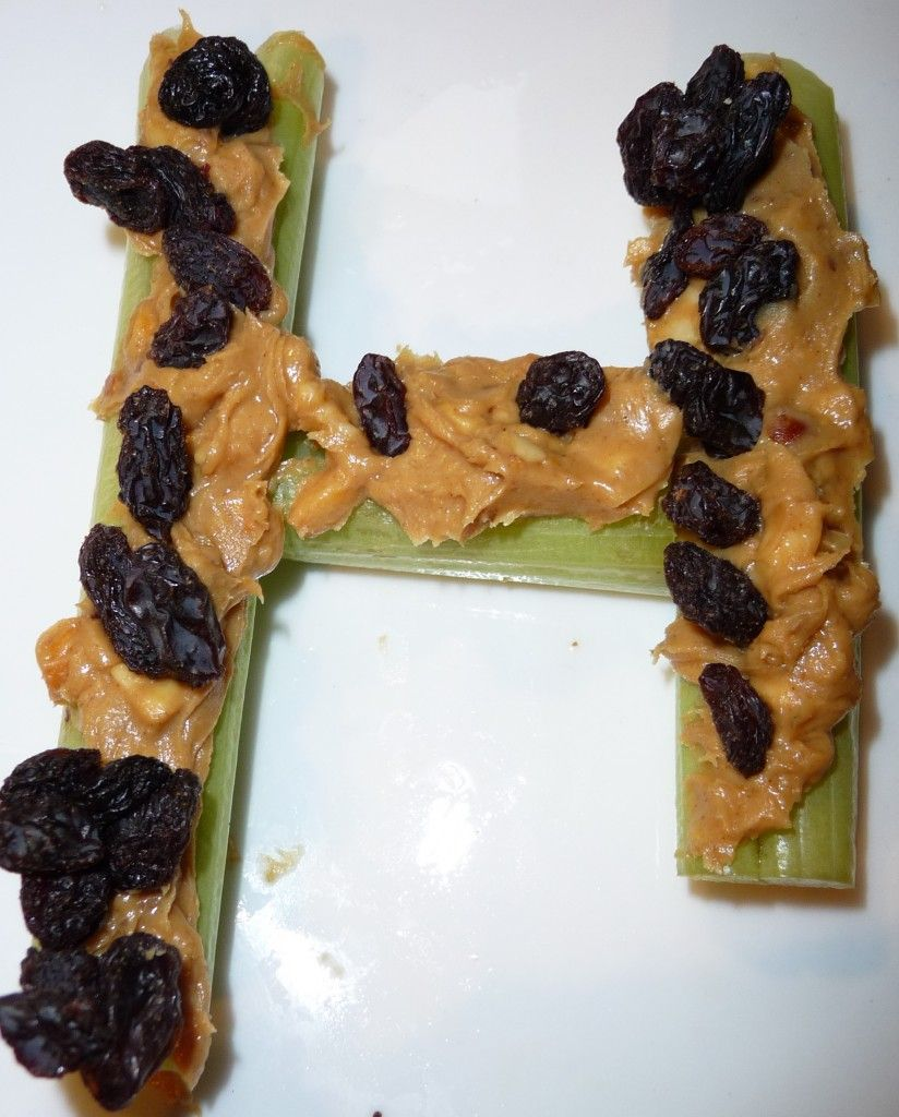 Ants on the Log: Letter H