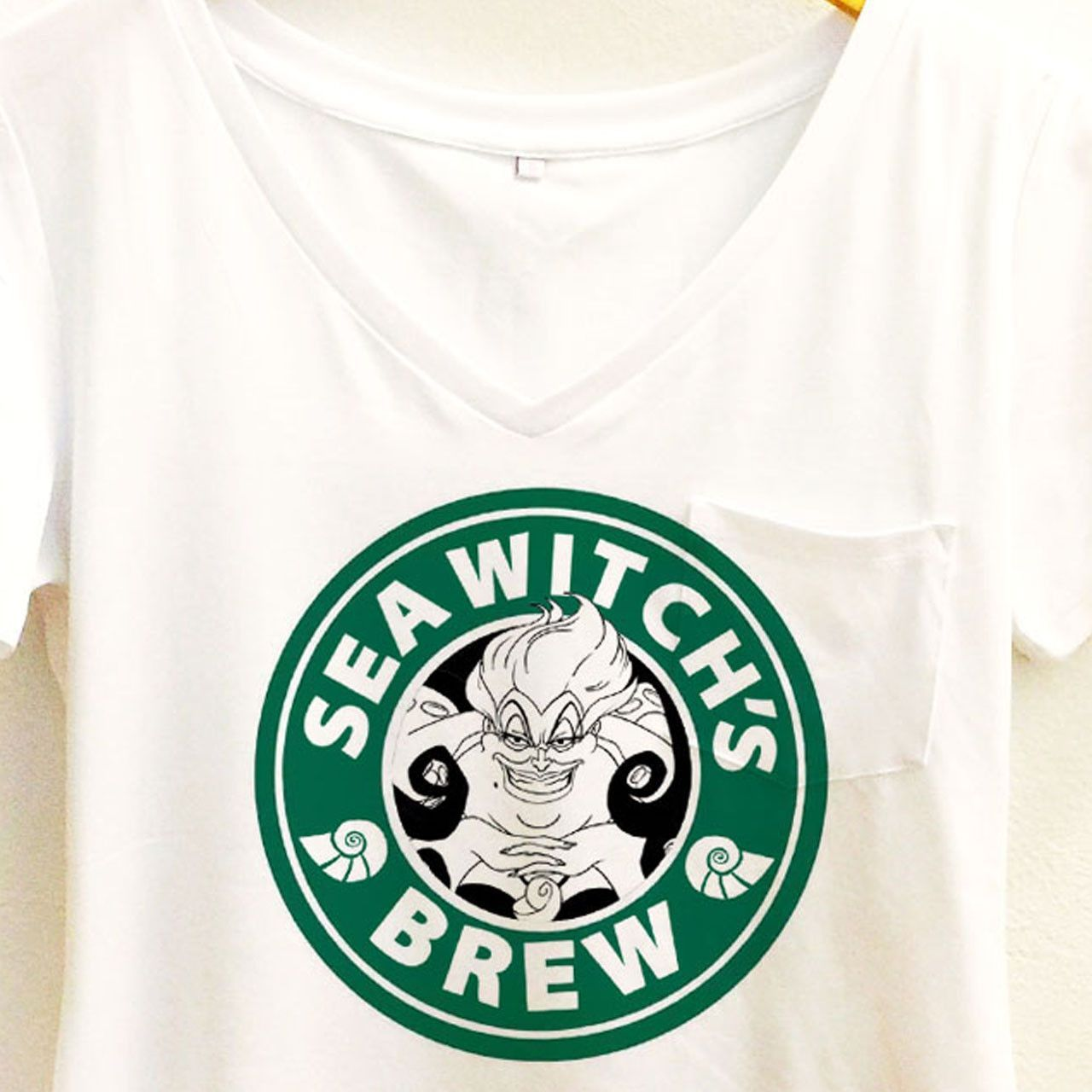 f76d6ae92 Sea Witch's Brew Coffee Shirt | Ursula The Little Mermaid Starbucks | Disney  Villain