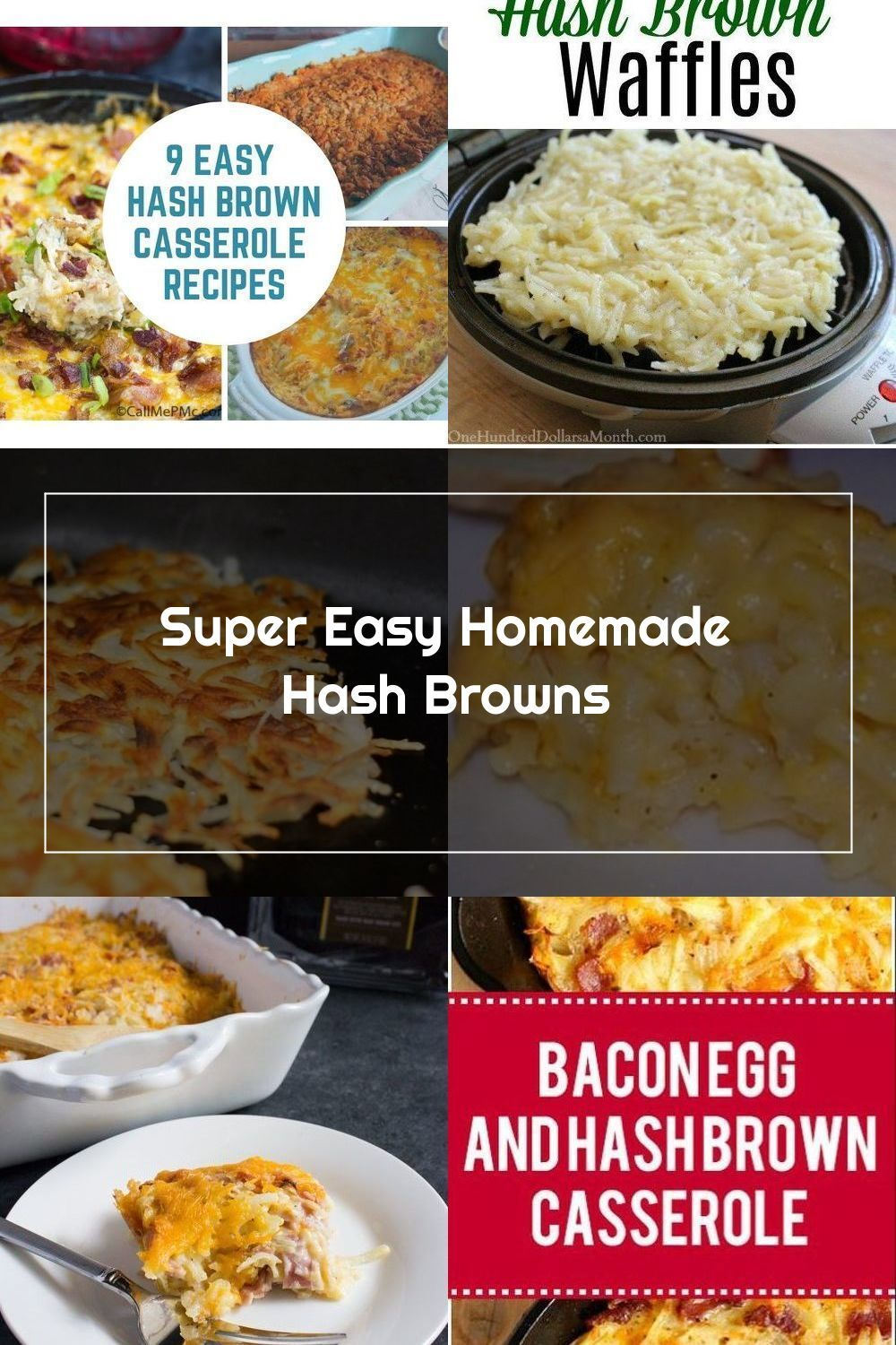 This Recipe Is Super Easy For Homemade Hash Browns You Only Need Potatoes