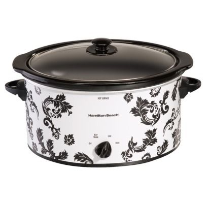 Hamilton Beach Damask Slow Cooker - 5 Qt // absolutely beautiful
