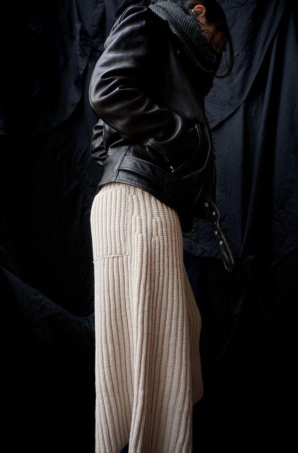 [ beautiful people ] MENS VINTAGE LEATHER RIDERS JACKET [ TAN ] BAGGY PANTS Faliero Sarti ( ITALY ) ZEN STOLE www.lancah.com