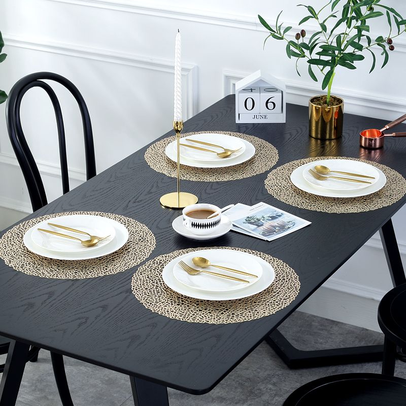 Gold Round Placemats Gold Coloured Vinyl Table Mats Manufacturer Sale Table Mats Copper Table Placemats For Round Table