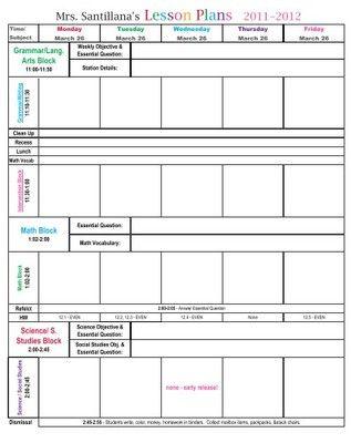 Lesson Plan Format | Lesson Plan template | Pinterest