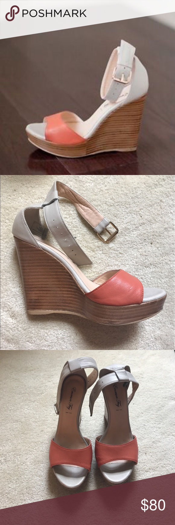 Emerson Fry Shoes | Emerson Fry Leather Wedge Sandals | Color: Cream/Pink | Size: 7 #emersonfry Emerson Fry Leather Wedge Sandals Lightly worn Emerson Fry platform wedge sandals in cream and coral leather. Wood heel and rubber soles. Emerson Fry Shoes Wedges #emersonfry Emerson Fry Shoes | Emerson Fry Leather Wedge Sandals | Color: Cream/Pink | Size: 7 #emersonfry Emerson Fry Leather Wedge Sandals Lightly worn Emerson Fry platform wedge sandals in cream and coral leather. Wood heel and rubber so #emersonfry