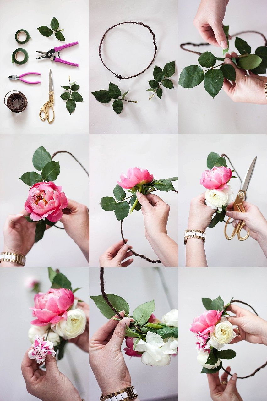 How to make a flower crown flower crown bar bridal shower how to make a flower crown flower crown bar bridal shower dhlflorist Choice Image
