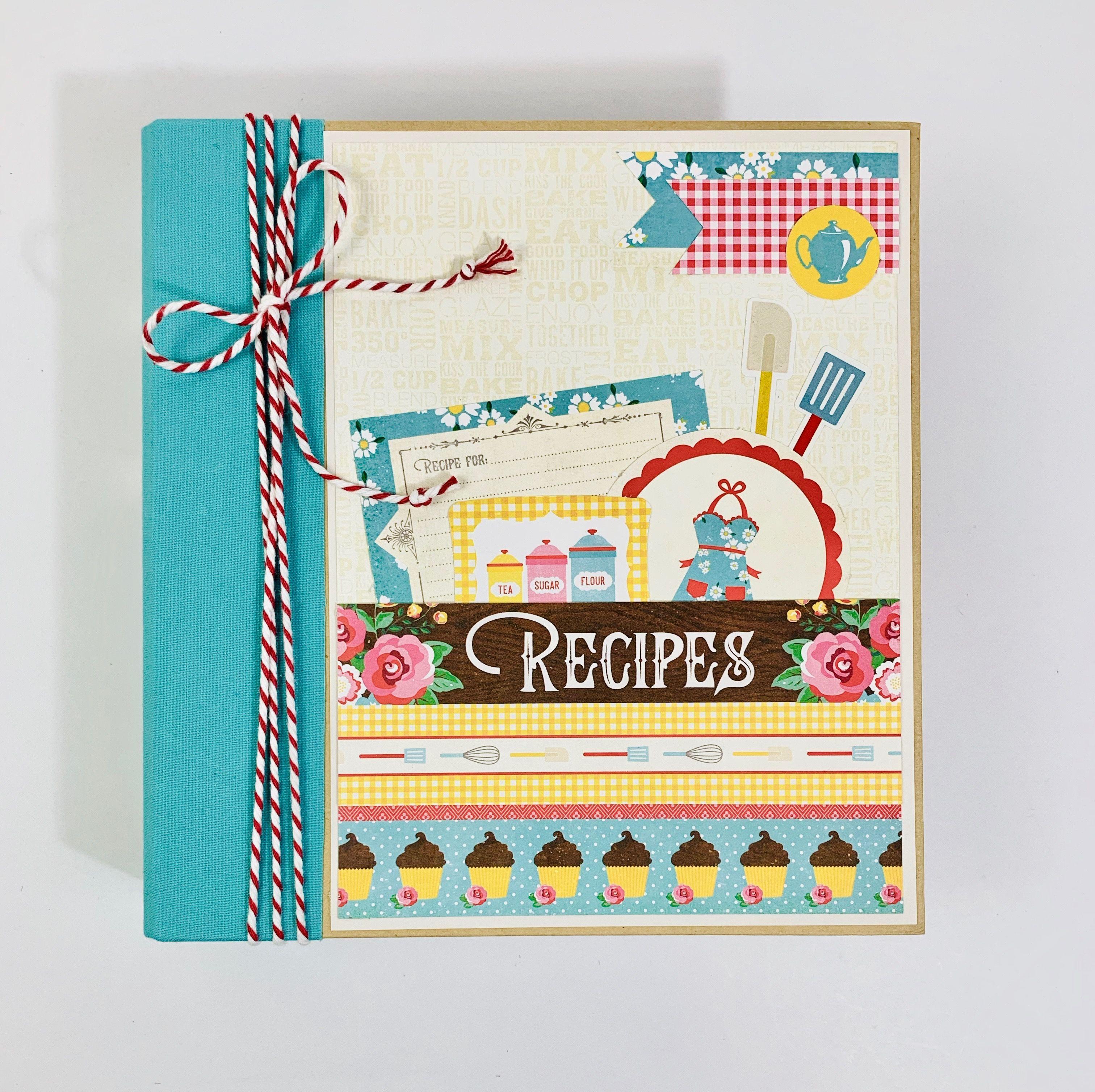 Handmade Diy Recipe Book Scrapbook Recipe Book Scrapbook Album Kits Recipe Book Diy