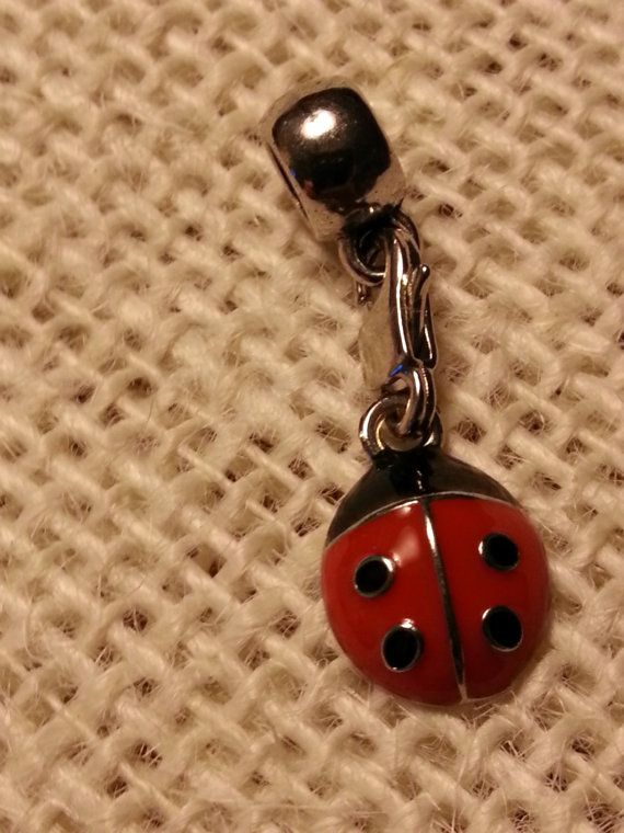 Lady Bug Charm that's compatible with most Pandora, Chamilia, Troll, and European style bracelets! Perfect for sorority sisters and lady bug enthusiasts alike!