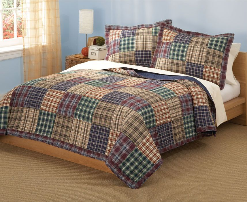 plaid quilts | Bradley plaid machine quilted master bedroom ... : plaid quilts - Adamdwight.com