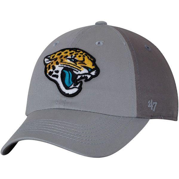658e5a9dd Men's Jacksonville Jaguars '47 Gray/Dark Gray Northside Clean Up Adjustable  Hat, $21.99