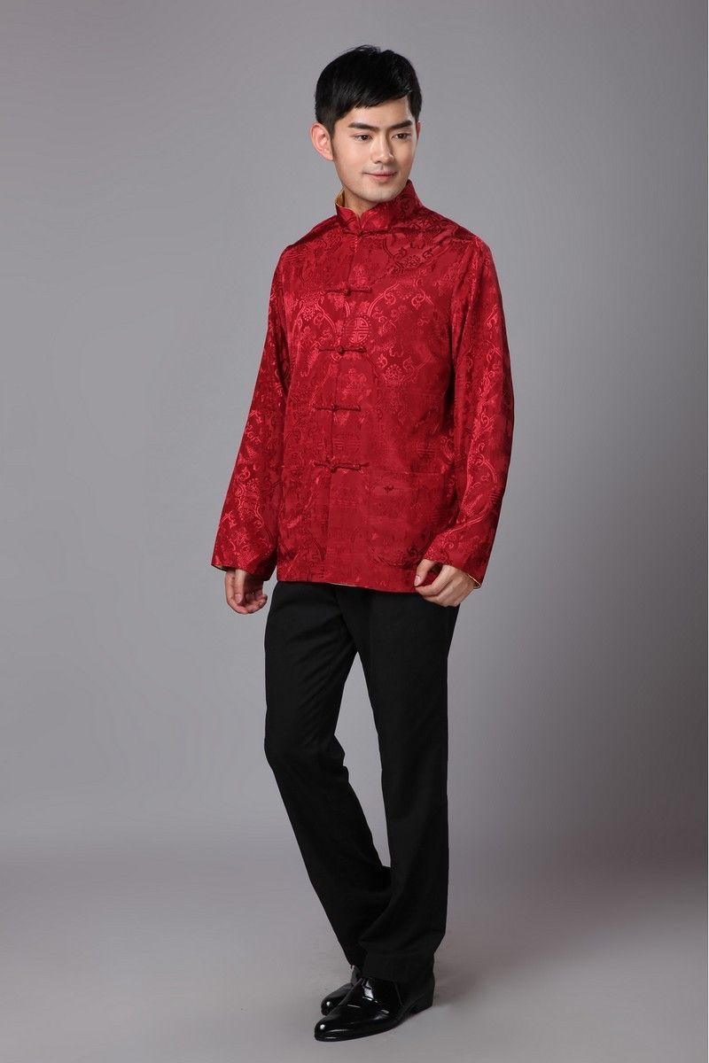 Aliexpress.com   Buy Traditional Chinese Clothing For Men New Year Tang  Costume Male Silk 4d597068aa6