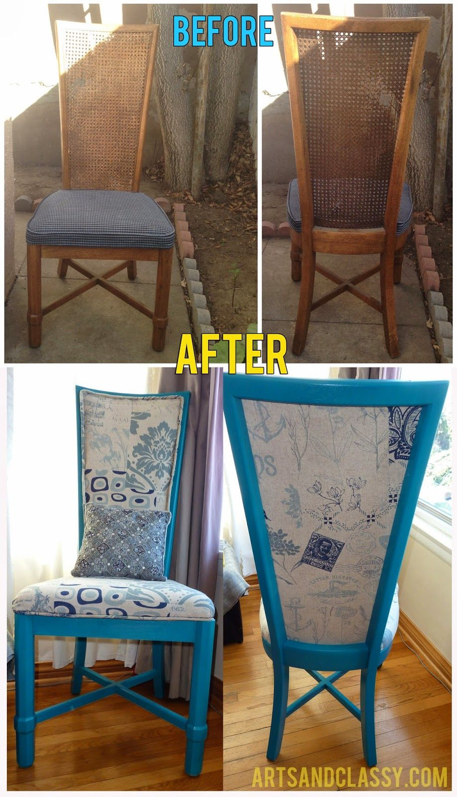 Love This Transformation Cane Chair Makeover Flip Redo