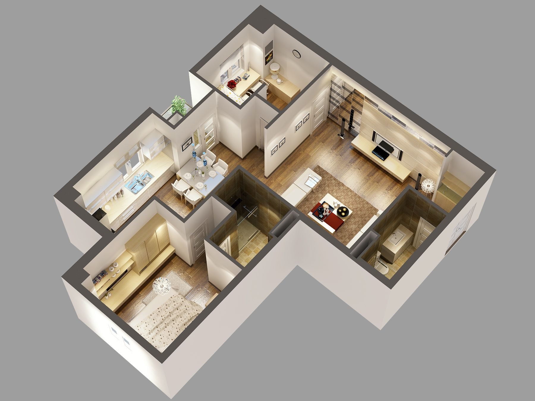 3d floor plan software free with awesome modern interior - Free software for 3d home design ...