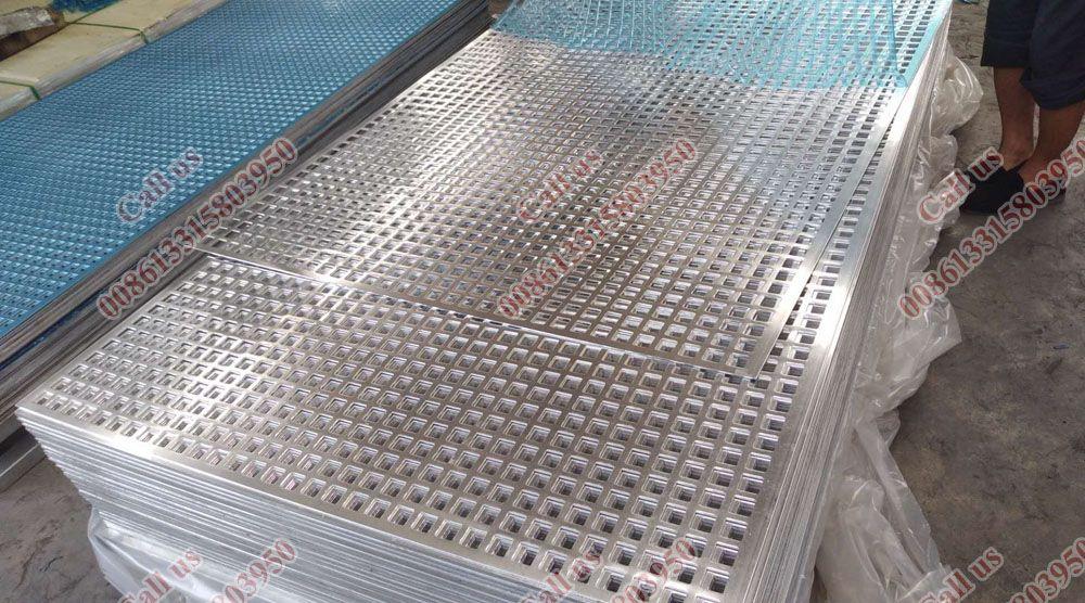 Square Hole Decorative Metal Screen Aluminum Sheet Panels Perforated Metal Mesh Perforated Aluminum Mesh