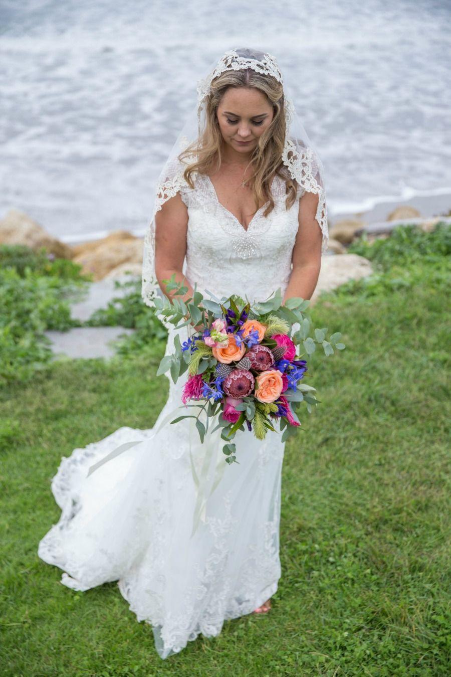 A Picturesque New Zealand Wedding Bohemian bride