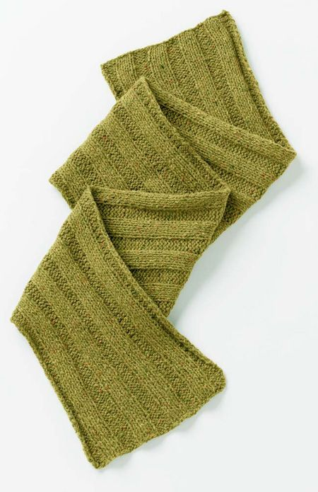Knit Simple Rib It Scarf. Free download. | Easy knitting ...