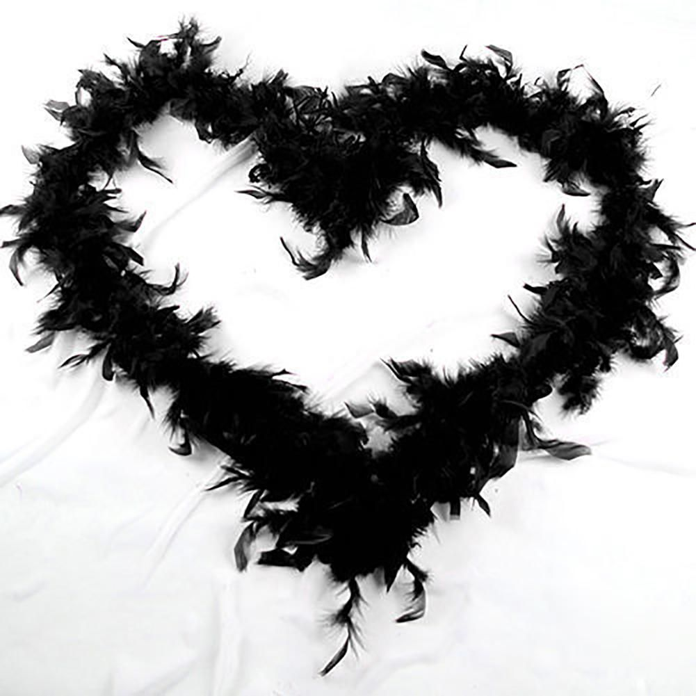 Photo of 2M Feather Boa Strip Fluffy Craft Costume Hen Night Dressup Wedding Fancy Party – Black