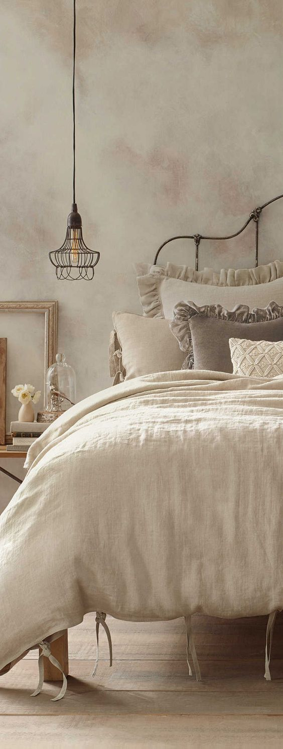 beautifully done faux aged wall bed bath beyond shabby chic