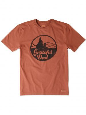 9d7e357a Life is Good Men's Grateful Dad Mountain Short Sleeve Crusher Tee,  Available at #EssentialApparel