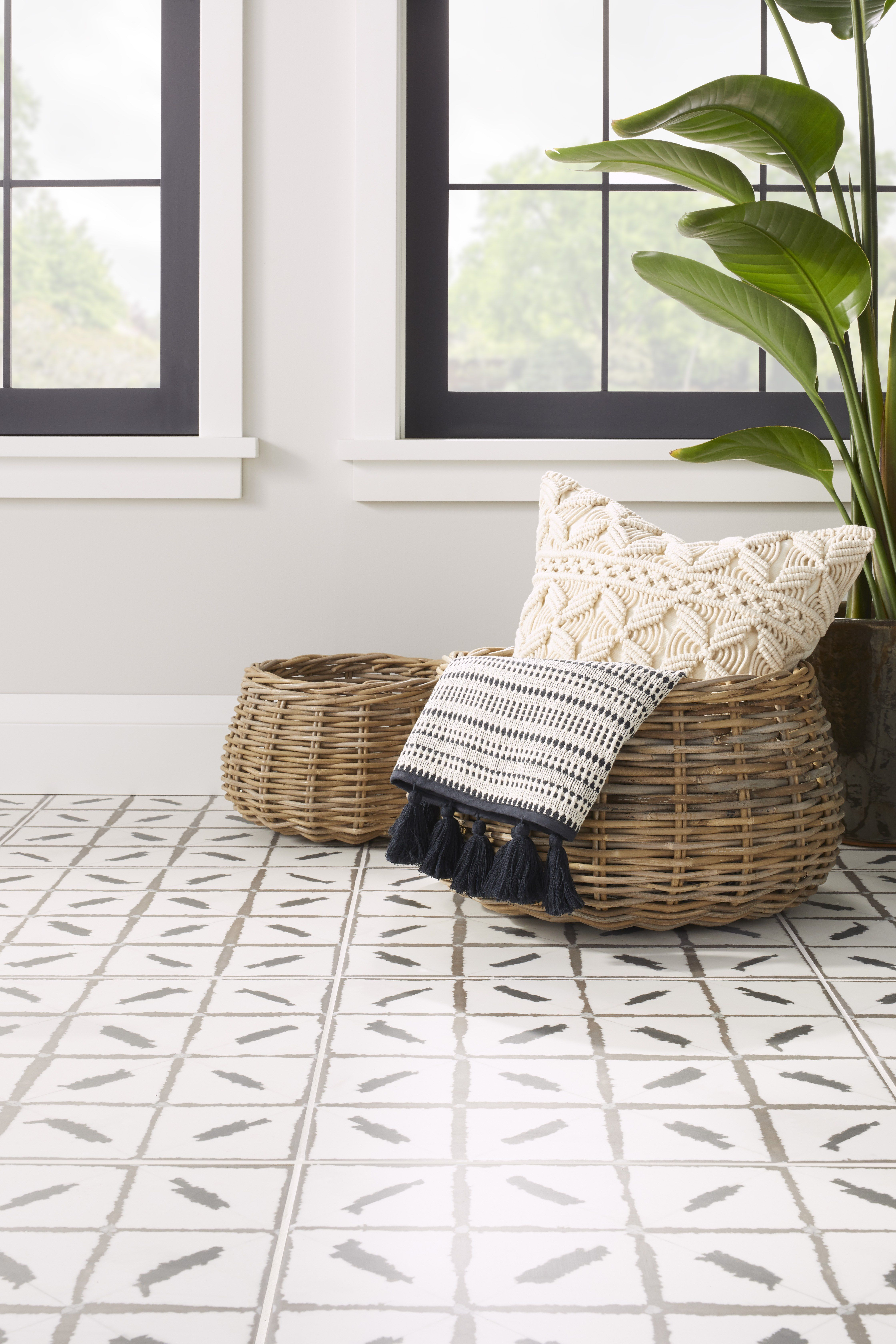 One of the bolder designs in the Annie Selke for The Tile