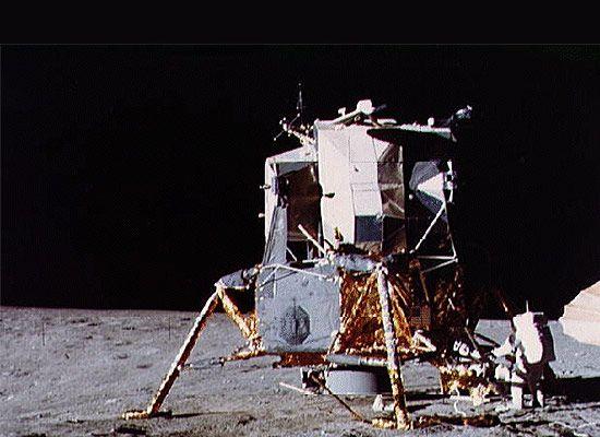 Apollo Lunar Excursion Module (LEM) on the moon's surface.