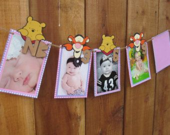 Brown Bear Printable DIY Baby First Year 12 month Photo Banner