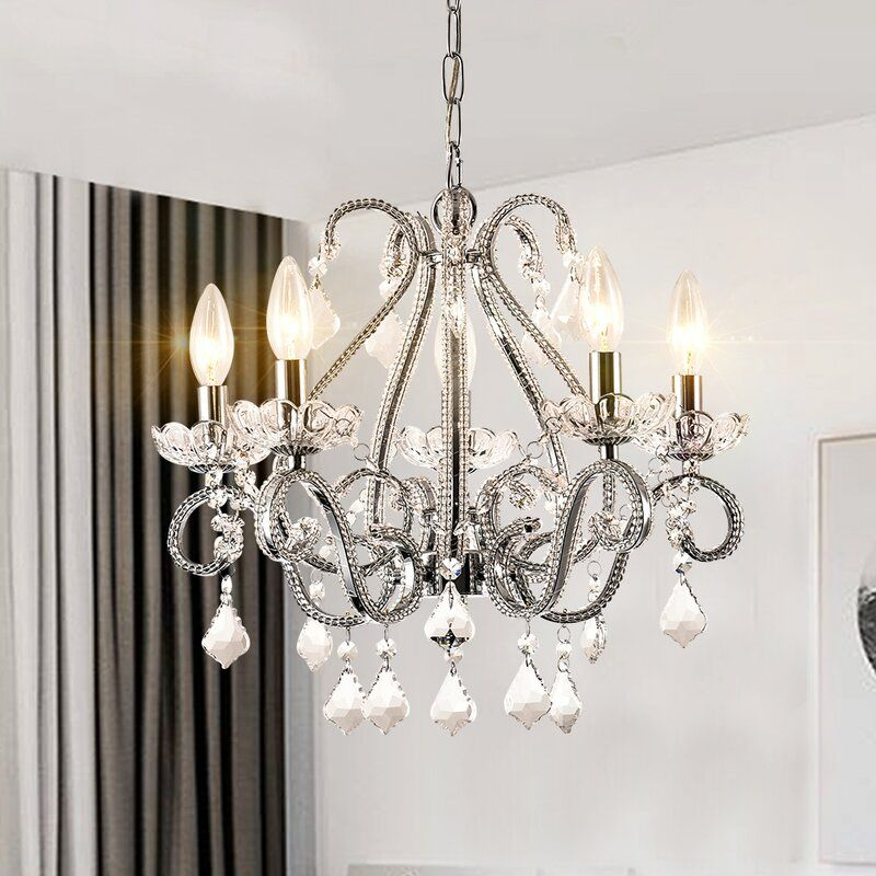 Womac 5 Light Chandelier With Crystal Accents In 2020 Candle