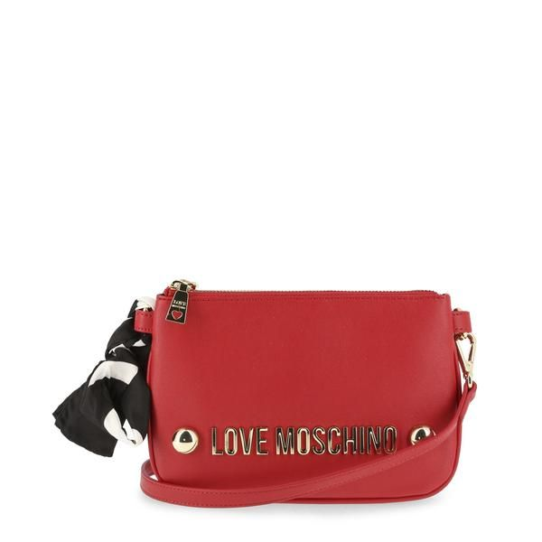 Love Moschino Crossbody Bag In Red With Cute Scarf Tie - JC4308PP06KU 814bd475d76ab