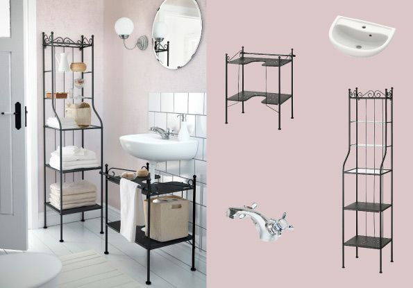 Captivating RÖNNSKÄR Shelving Unit And Wash Basin Shelf All In Black Steel. This Would  Be Perfect For The Basement Bathroom