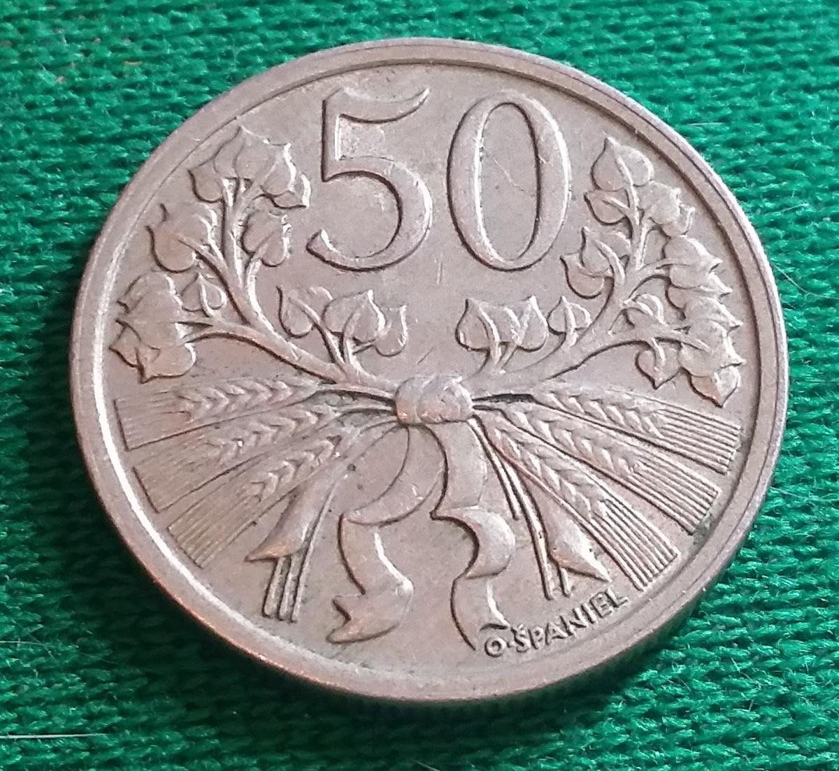 Coin 50 Haleru 1921 Cecoslovacchia Monete Filatelia E Numismatica