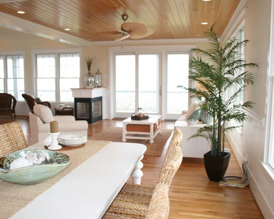 Excellent tropical dining room with terrific floorboard for 3 sided dining room table
