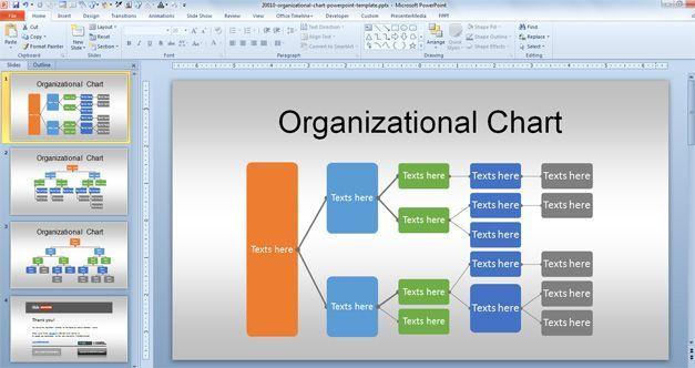 Free org chart powerpoint template for organizational change management presentations templates orgchart also rh pinterest