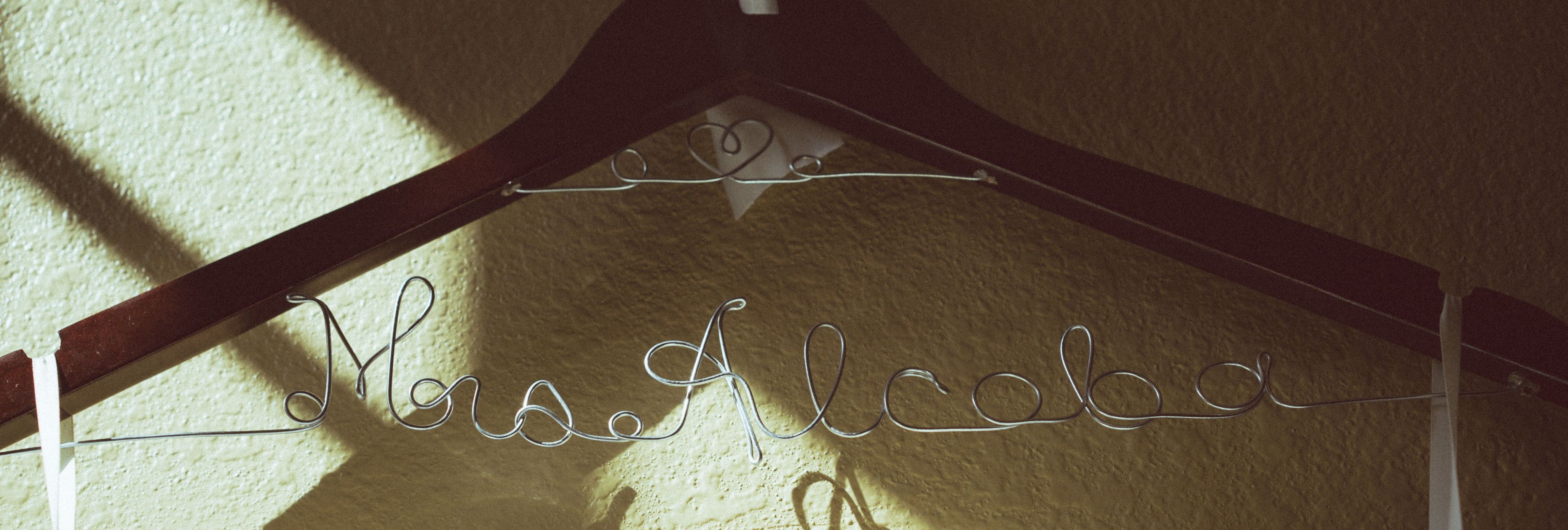 Beautiful personalized hanger for the bride s wedding gown