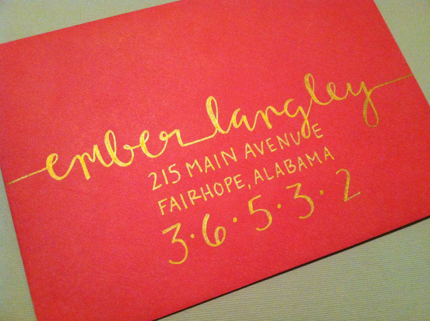 Custom Calligraphy Wedding Invitations or Save the Date Hand ...