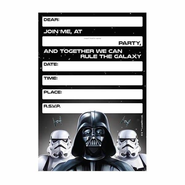 image about Star Wars Invitations Free Printable identify Star Wars Darth Vader Invites Star wars social gathering