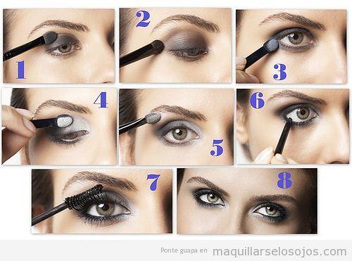 tutorial paso a paso con fotos para aprender cmo maquillarse ojos ahumados en gris - Como Pintarse Los Ojos Paso A Paso